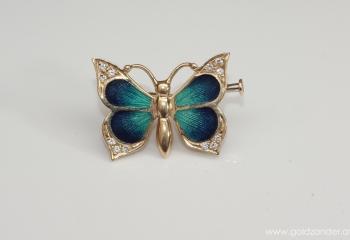 Faberge Schmetterling Brosche