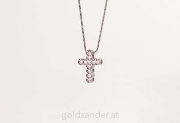 Kreuz, Solitaire, brillant, diamant, weißgold, graz, schmuck