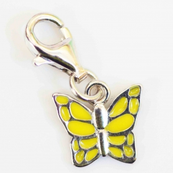 Bettelarmband; Anhänger; Silber; Schmetterling